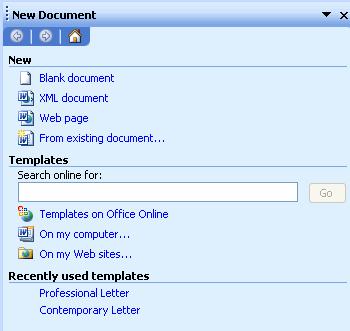 lmc csc 151 microsoft word 2003 reference file new menu command
